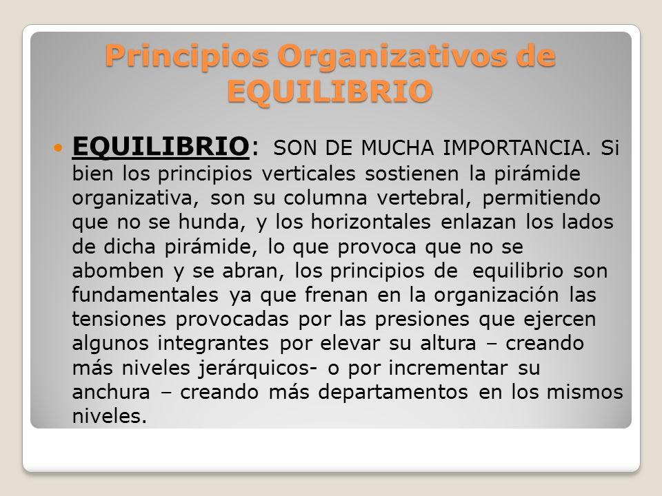 Principios Organizativos de EQUILIBRIO