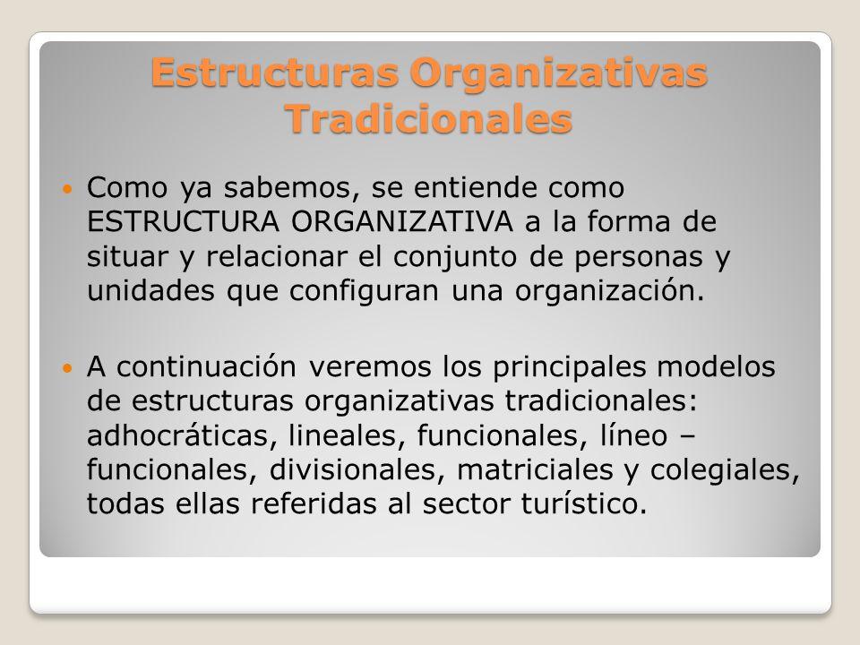 Estructuras Organizativas Tradicionales