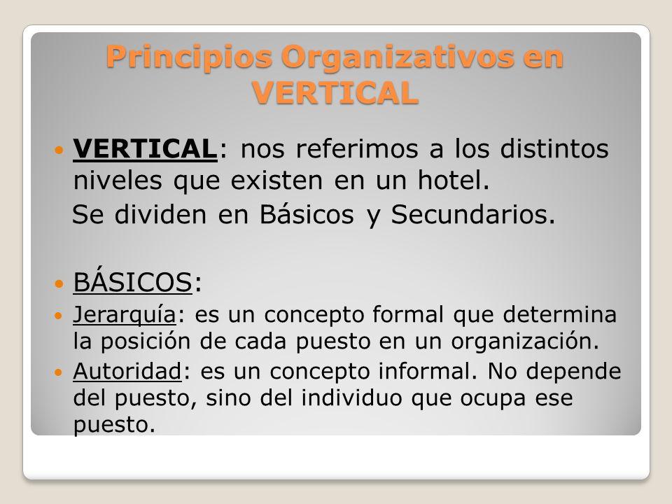 Principios Organizativos en VERTICAL