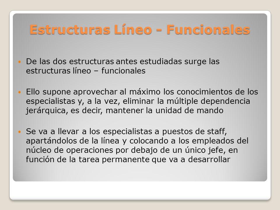 Estructuras Líneo - Funcionales