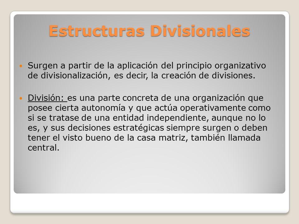 Estructuras Divisionales