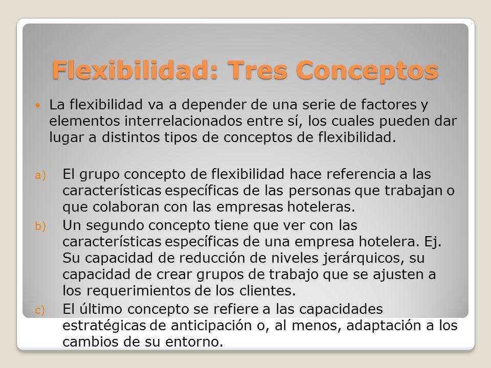 Flexibilidad: Tres Conceptos