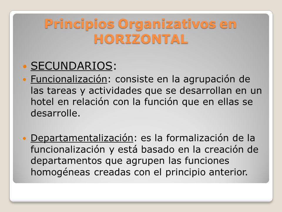 Principios Organizativos en HORIZONTAL