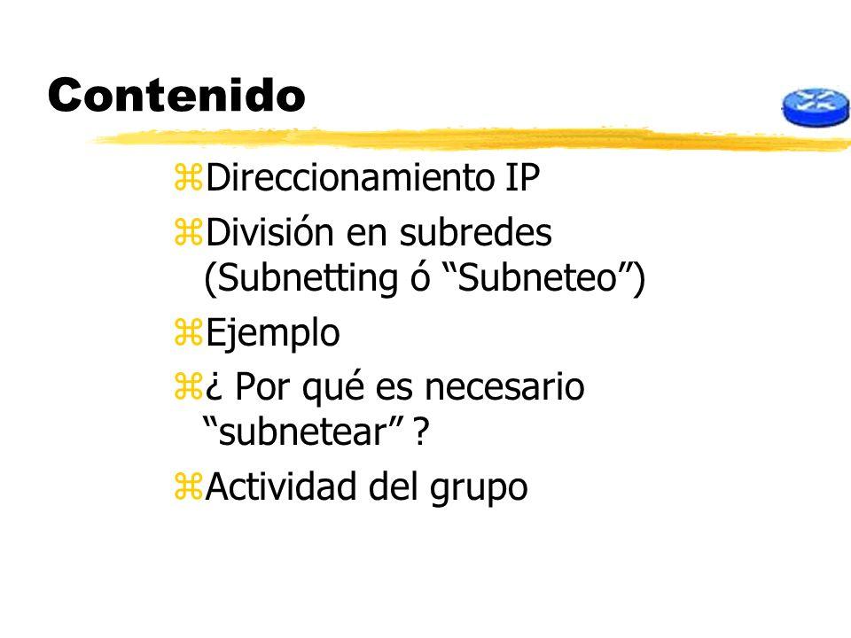 Contenido Direccionamiento IP
