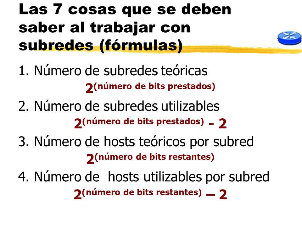 Las 7 cosas que se deben saber al trabajar con subredes (fórmulas)