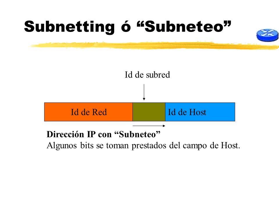 Subnetting ó Subneteo