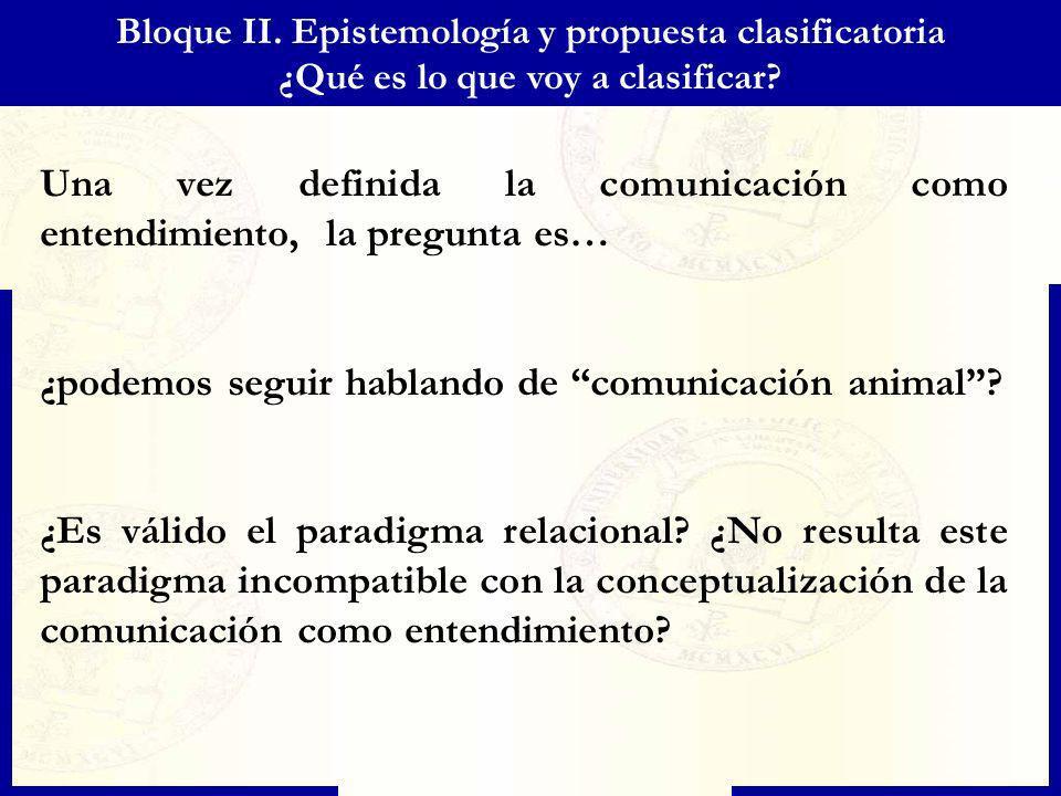 Una vez definida la comunicación como entendimiento, la pregunta es…