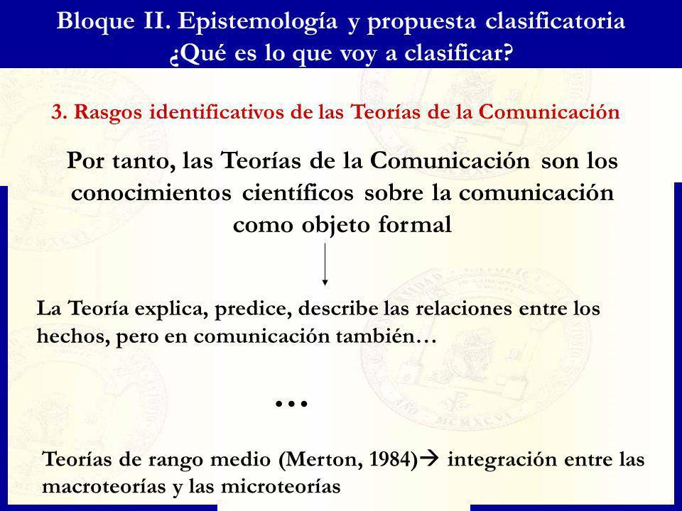 … Bloque II. Epistemología y propuesta clasificatoria