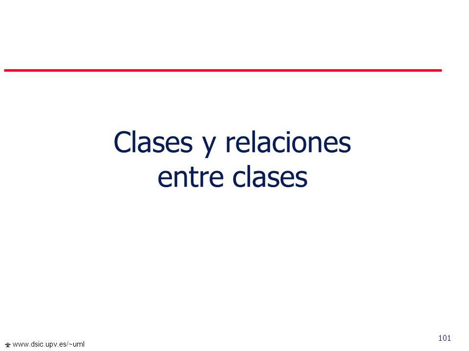 Clases y relaciones entre clases