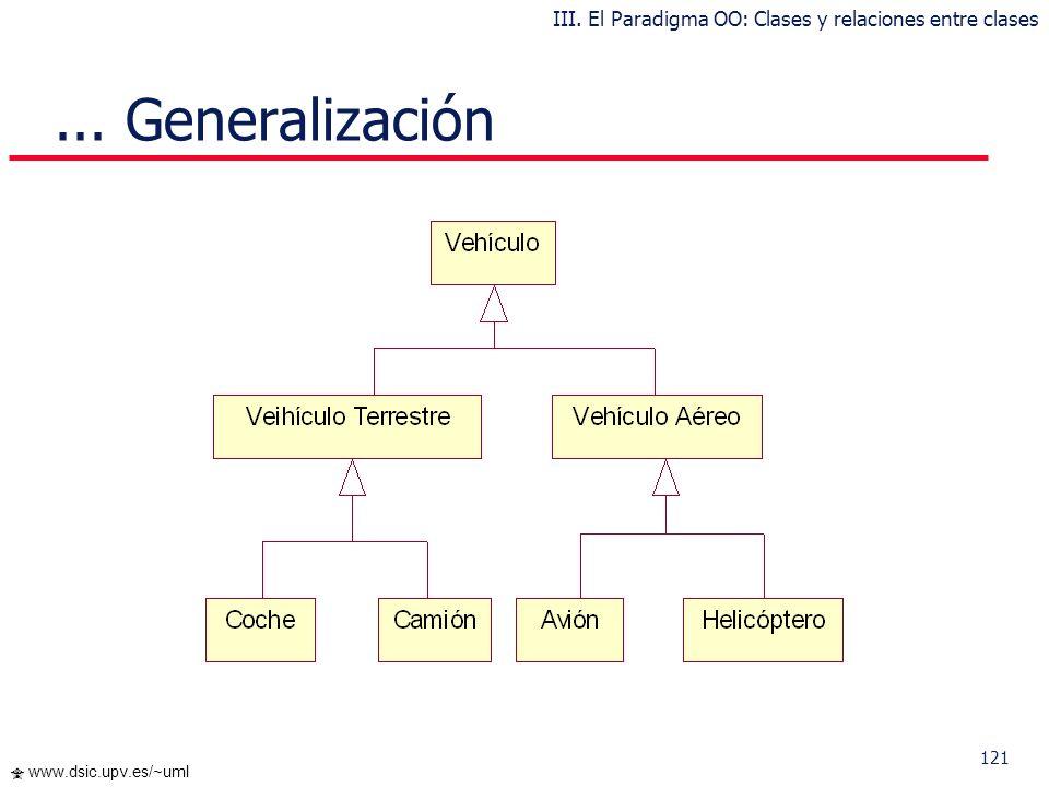 III. El Paradigma OO: Clases y relaciones entre clases