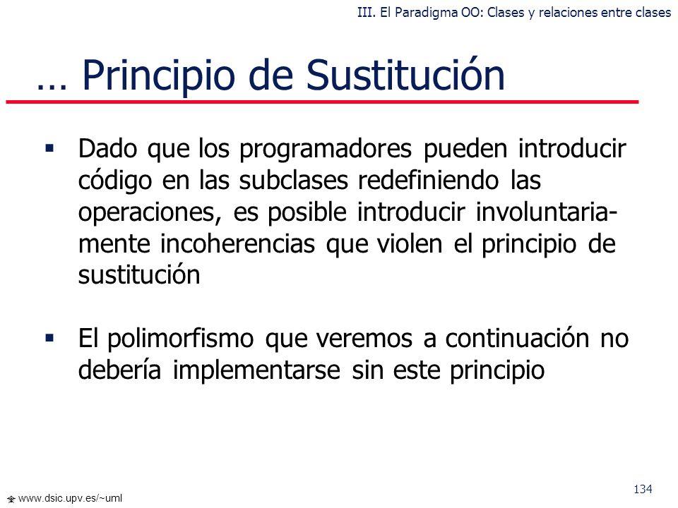 … Principio de Sustitución