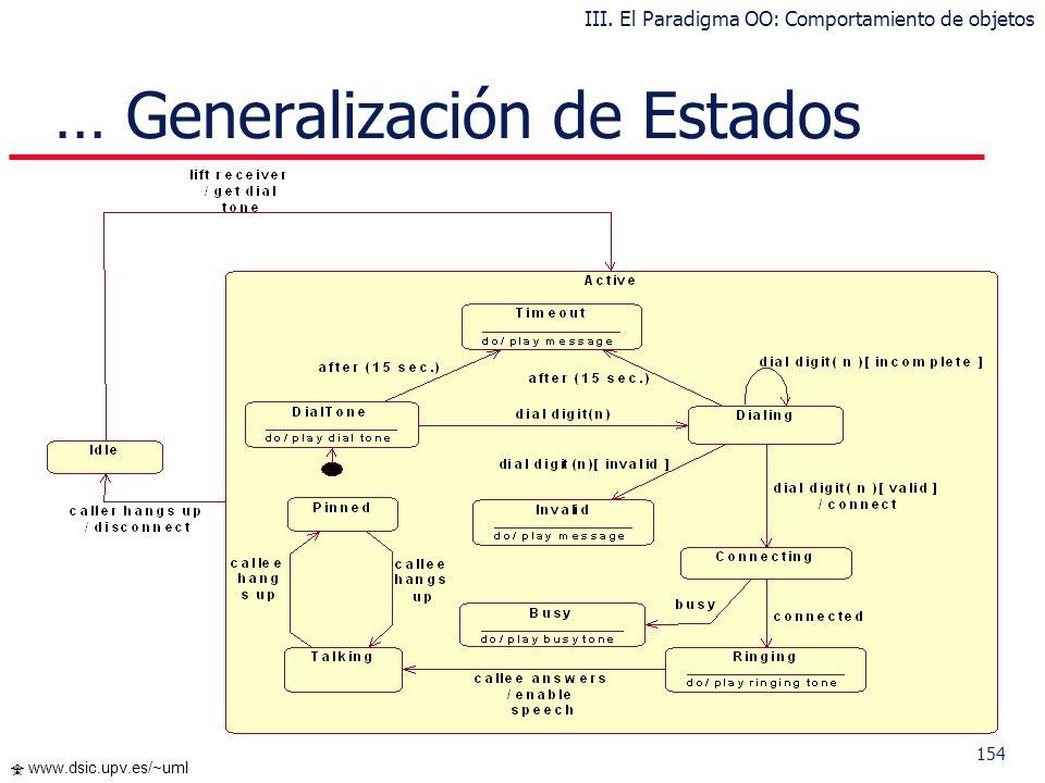 … Generalización de Estados