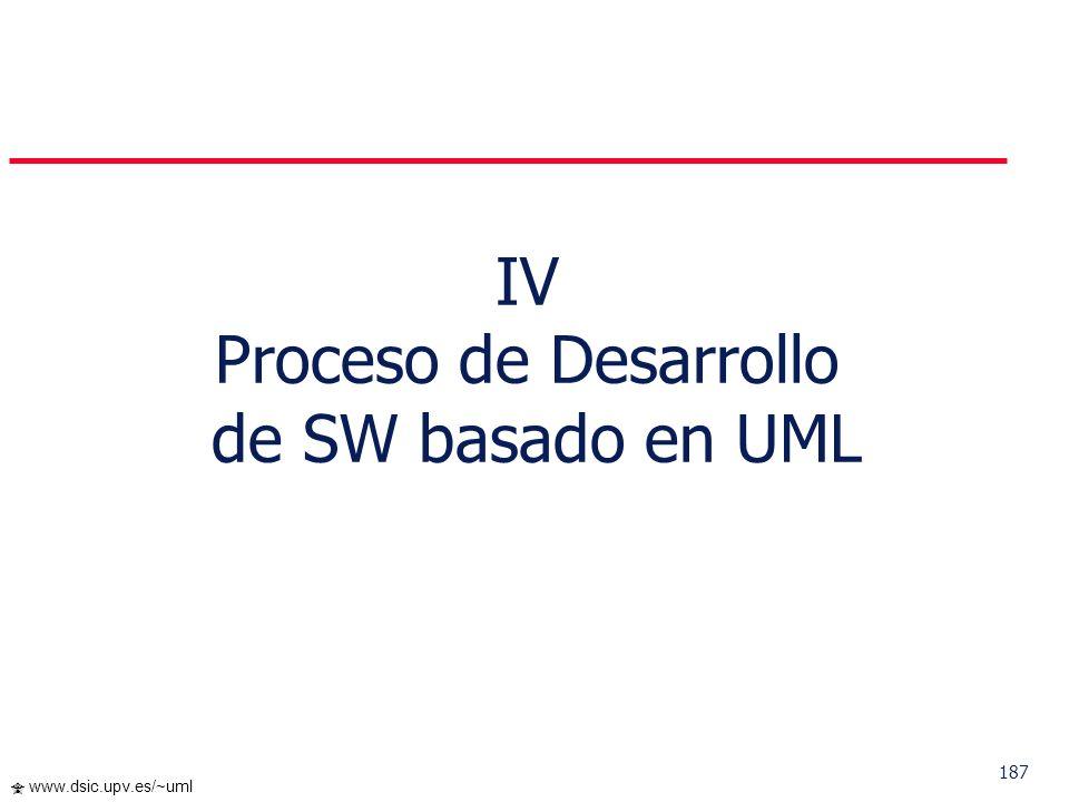 IV Proceso de Desarrollo de SW basado en UML