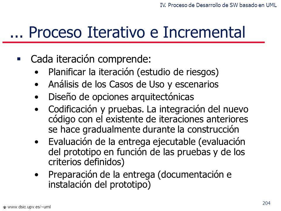 ... Proceso Iterativo e Incremental