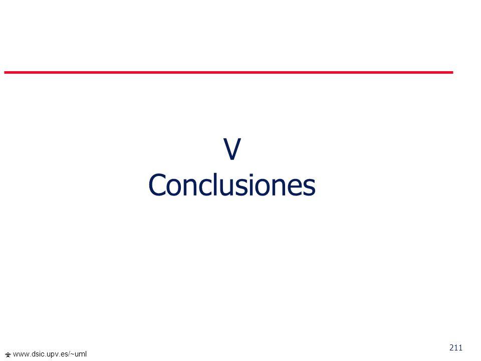 V Conclusiones