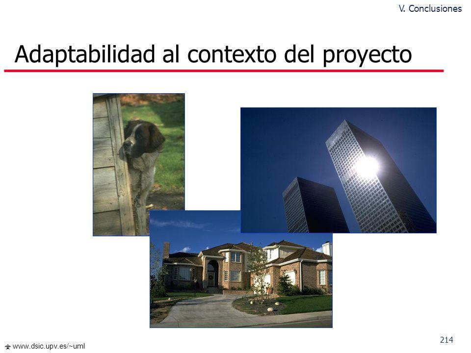 Adaptabilidad al contexto del proyecto