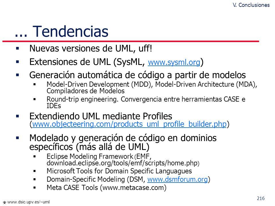 ... Tendencias Nuevas versiones de UML, uff!