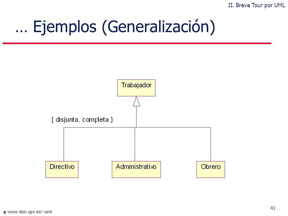 … Ejemplos (Generalización)