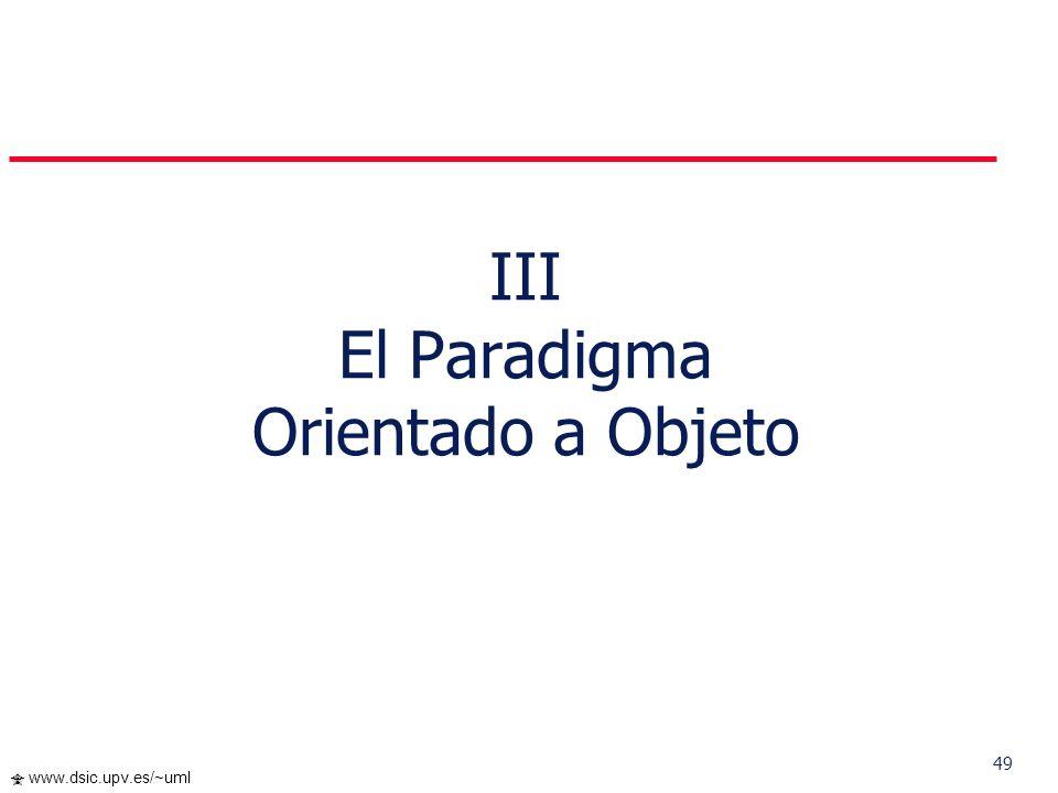 III El Paradigma Orientado a Objeto