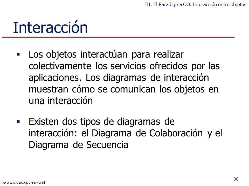 III. El Paradigma OO: Interacción entre objetos