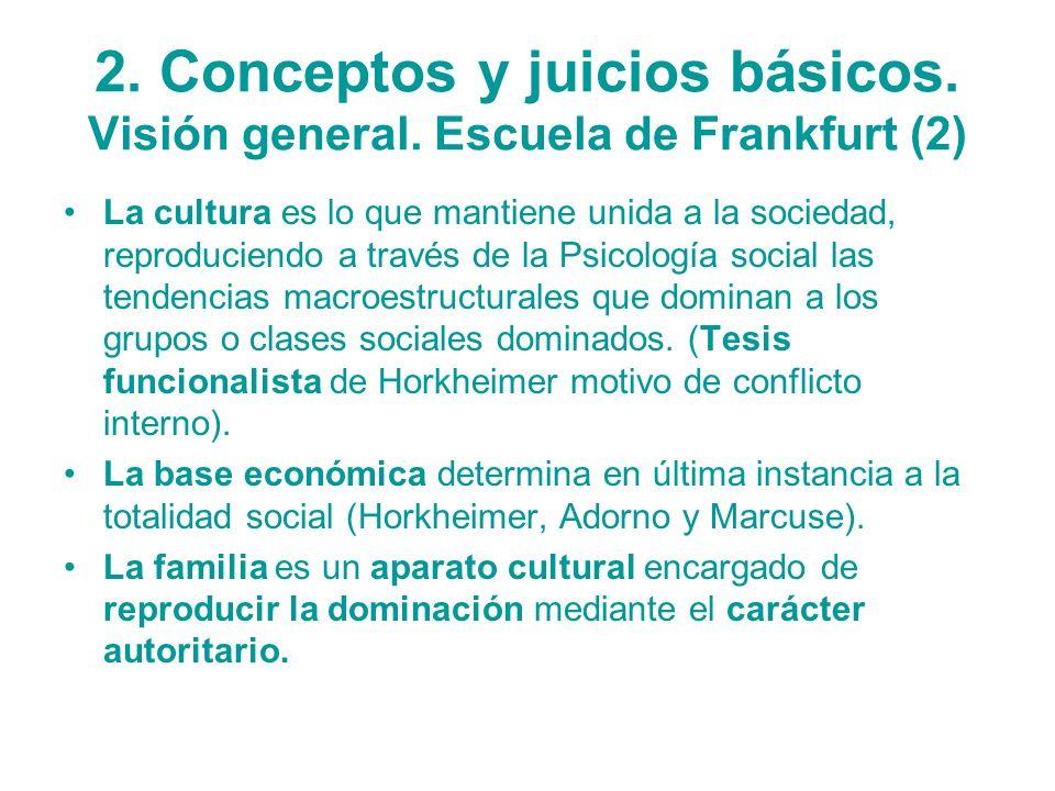 2. Conceptos y juicios básicos. Visión general