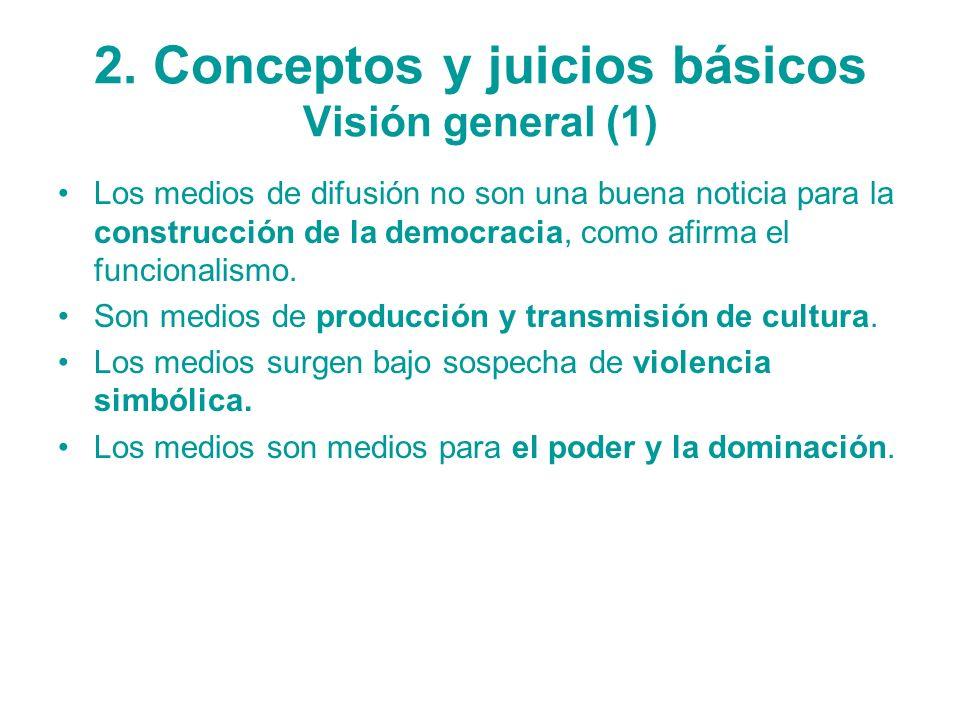 2. Conceptos y juicios básicos Visión general (1)
