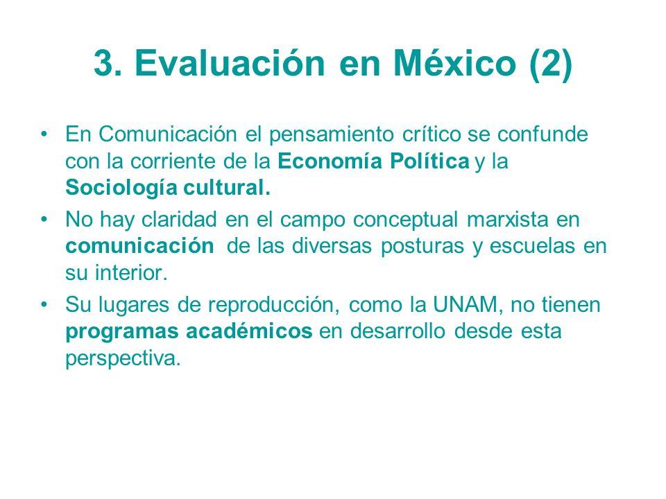 3. Evaluación en México (2)