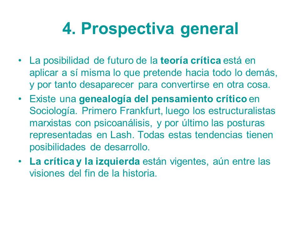 4. Prospectiva general