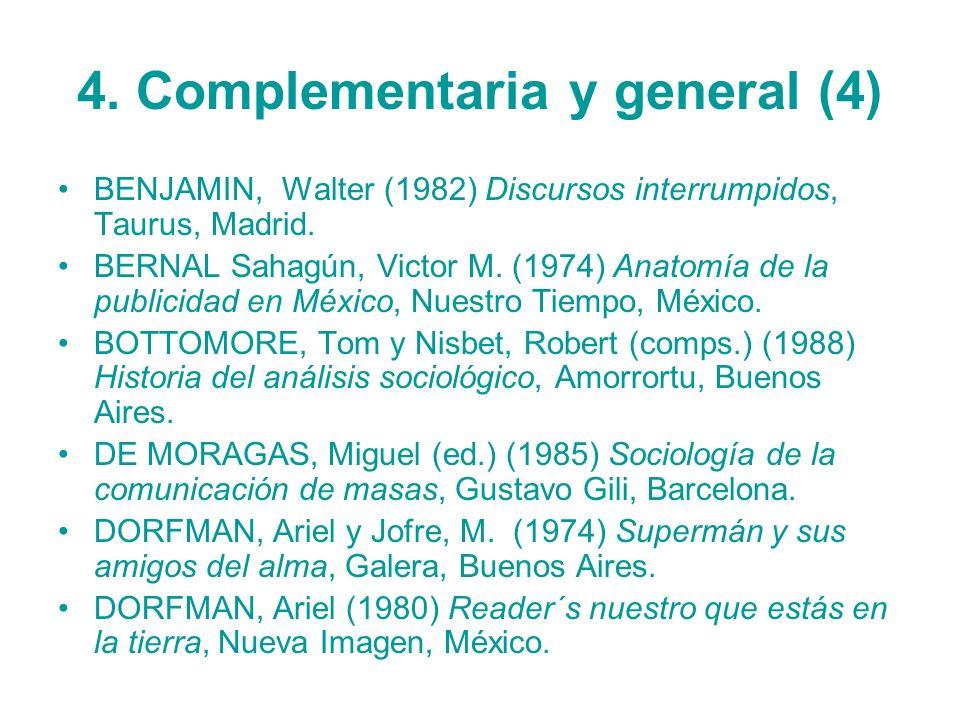 4. Complementaria y general (4)