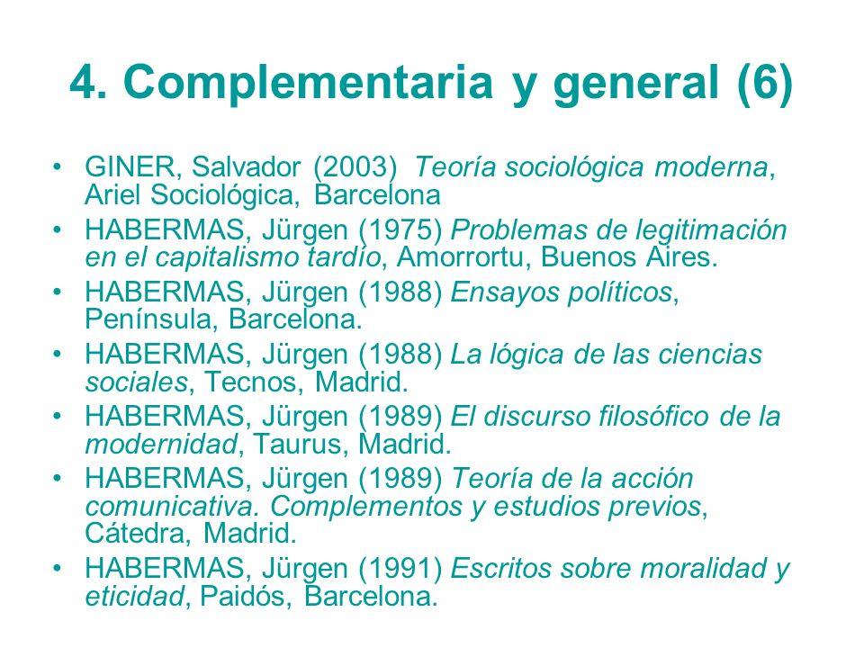 4. Complementaria y general (6)