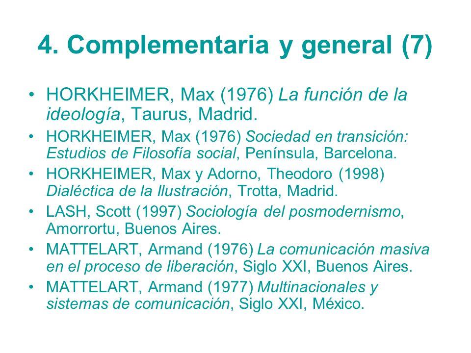 4. Complementaria y general (7)