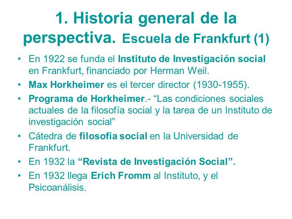1. Historia general de la perspectiva. Escuela de Frankfurt (1)