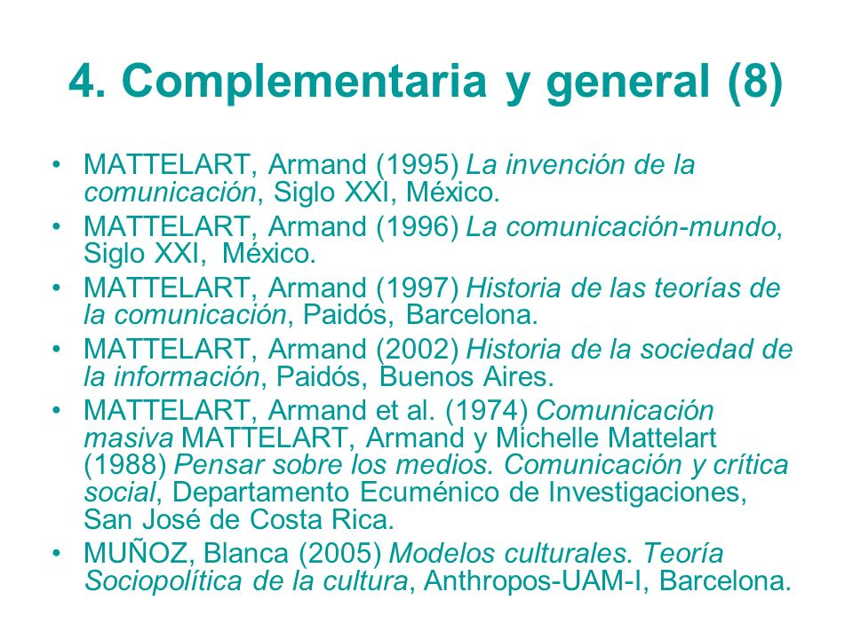 4. Complementaria y general (8)