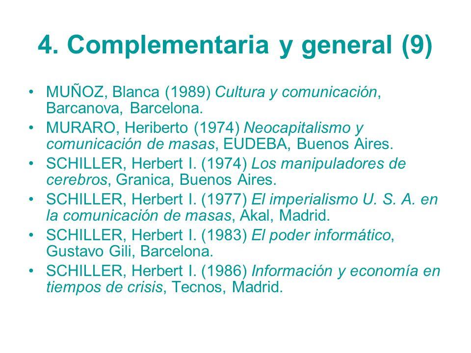 4. Complementaria y general (9)