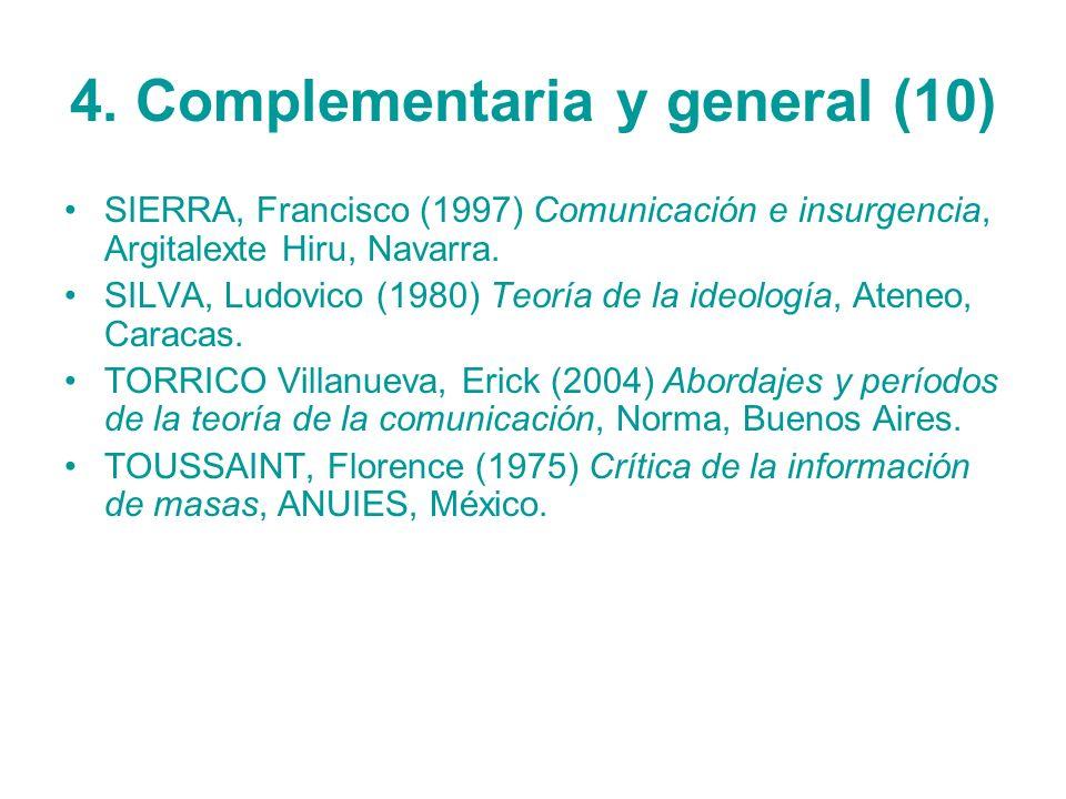 4. Complementaria y general (10)