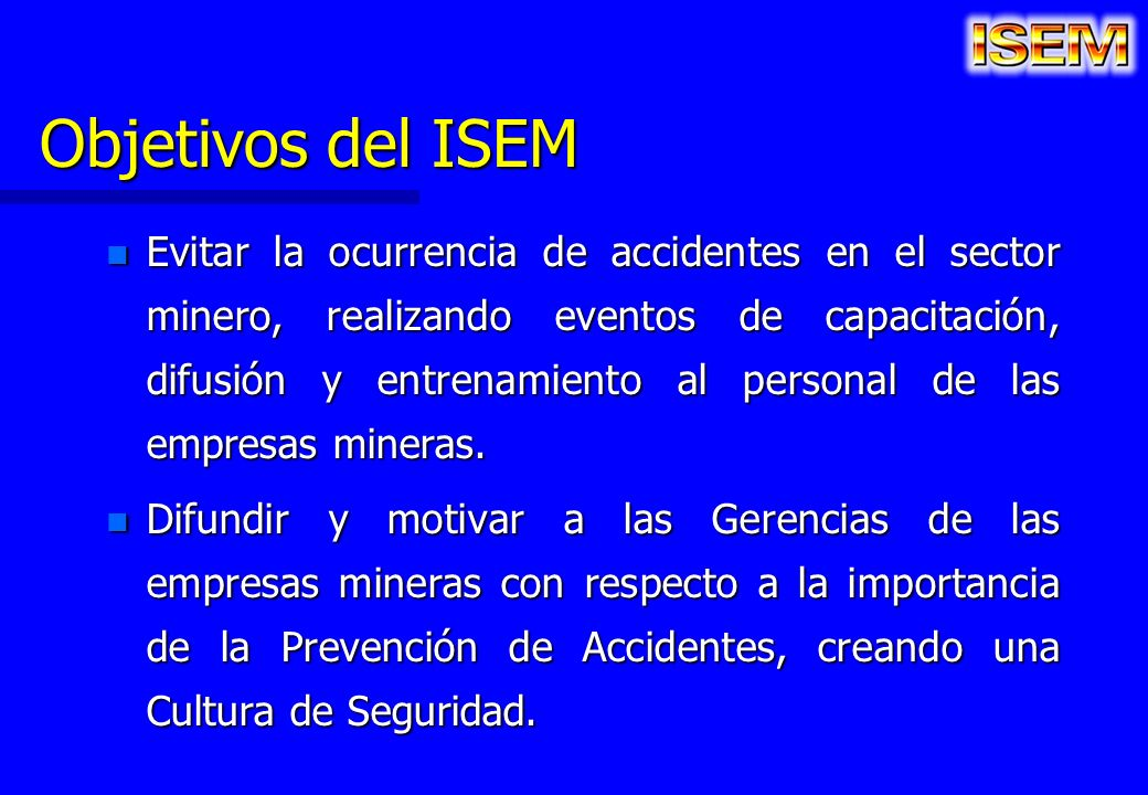Objetivos del ISEM