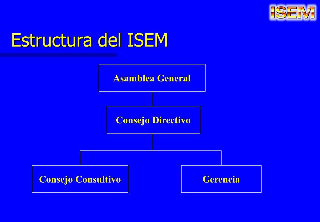 Estructura del ISEM Asamblea General Consejo Directivo