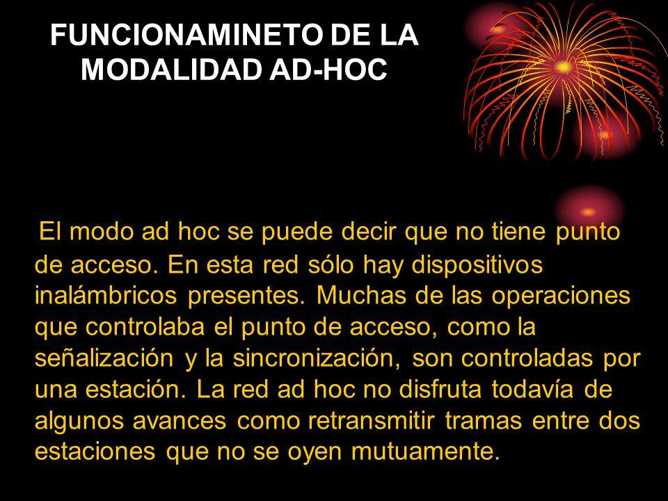 FUNCIONAMINETO DE LA MODALIDAD AD-HOC