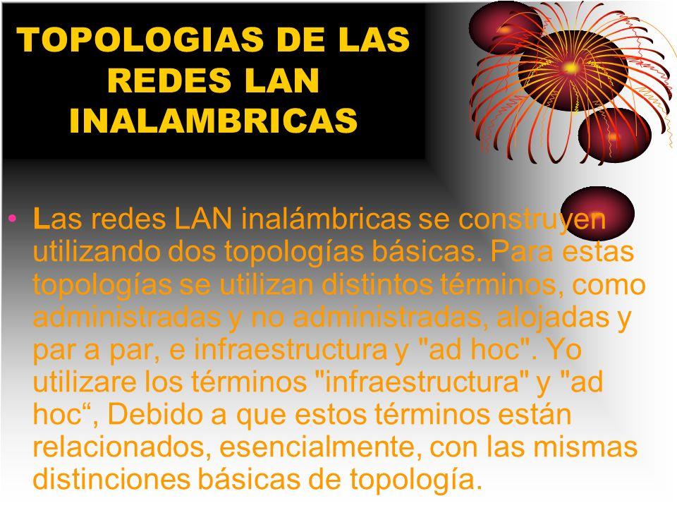 TOPOLOGIAS DE LAS REDES LAN INALAMBRICAS