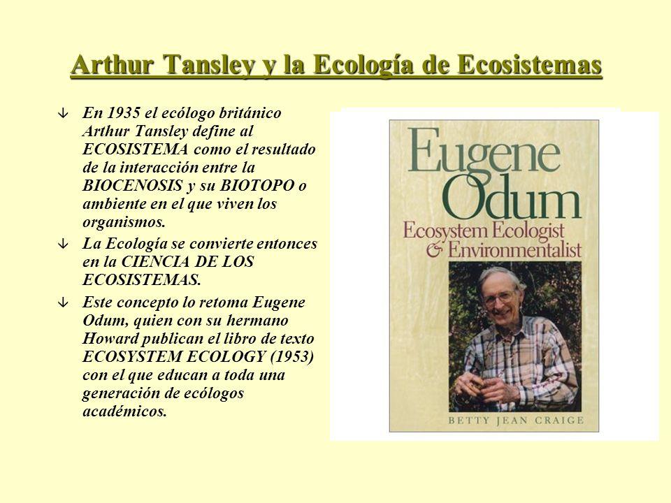 Arthur Tansley y la Ecología de Ecosistemas