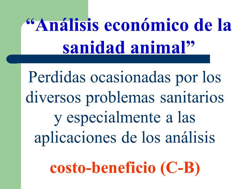 Análisis económico de la sanidad animal costo-beneficio (C-B)