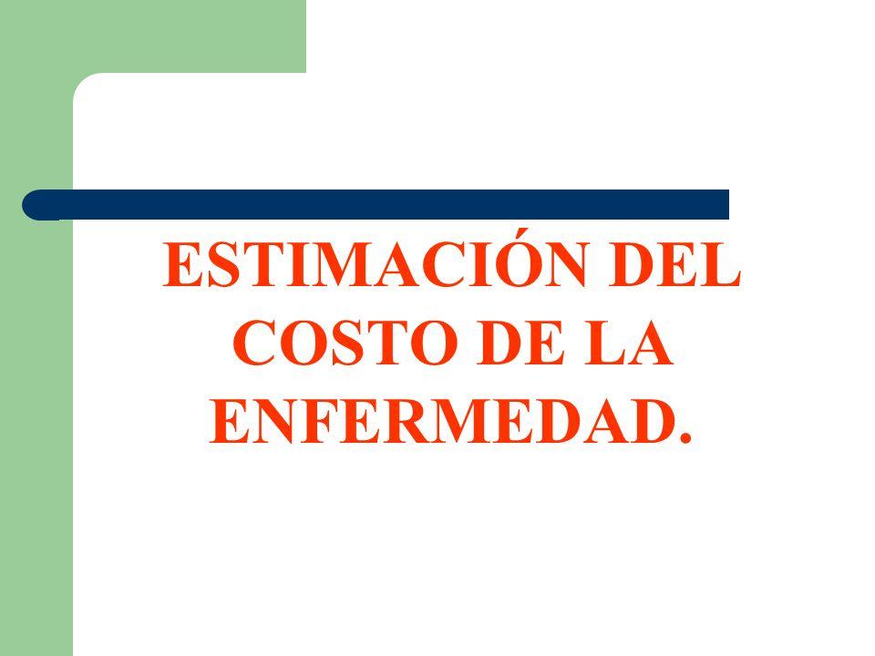 ESTIMACIÓN DEL COSTO DE LA ENFERMEDAD.