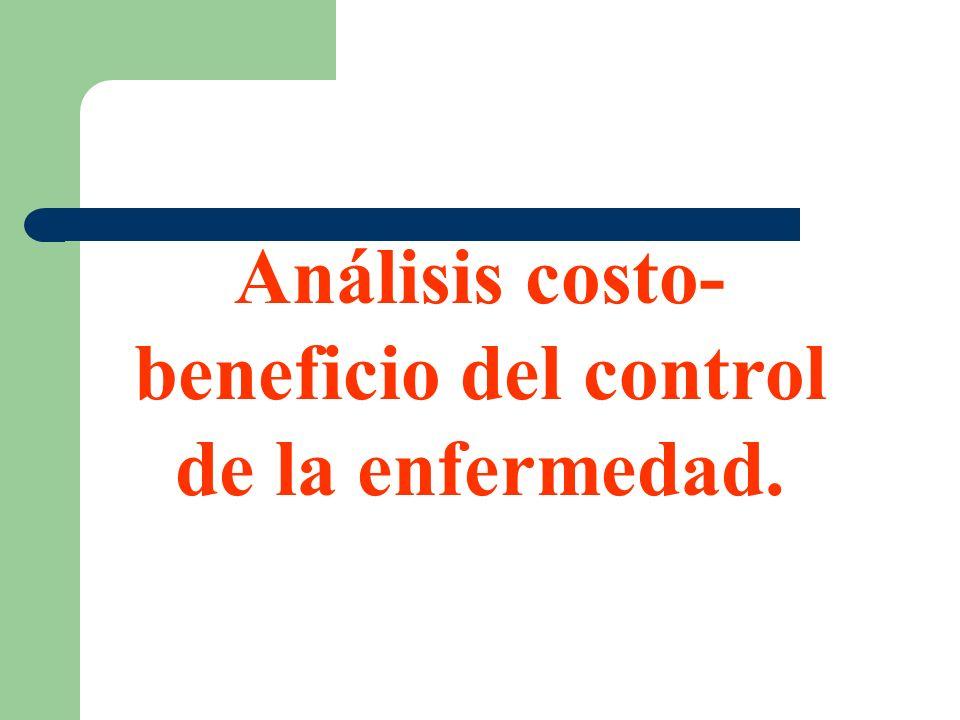 Análisis costo-beneficio del control de la enfermedad.