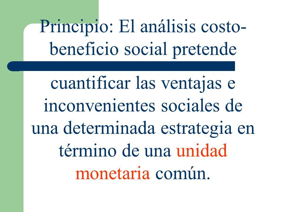 Principio: El análisis costo-beneficio social pretende