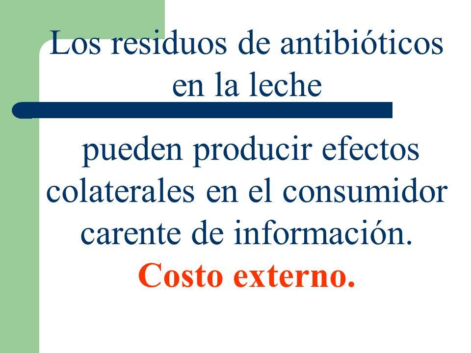 Los residuos de antibióticos en la leche