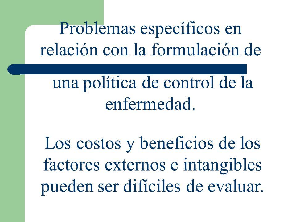 Problemas específicos en relación con la formulación de