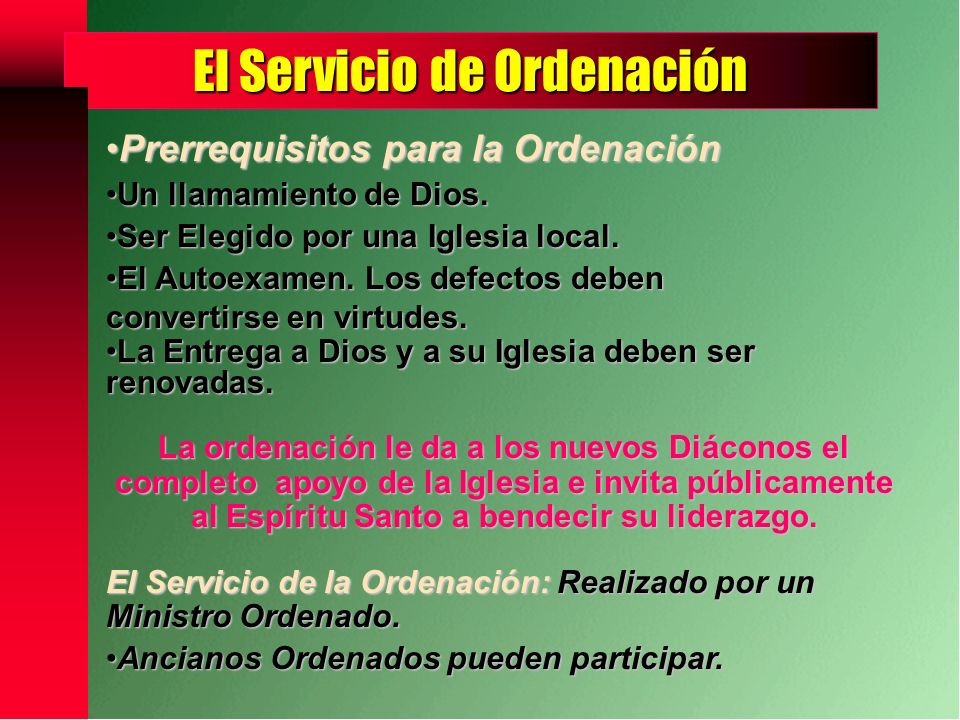 El Servicio de Ordenación