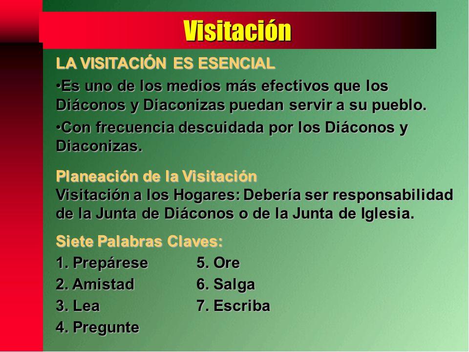 Visitación LA VISITACIÓN ES ESENCIAL