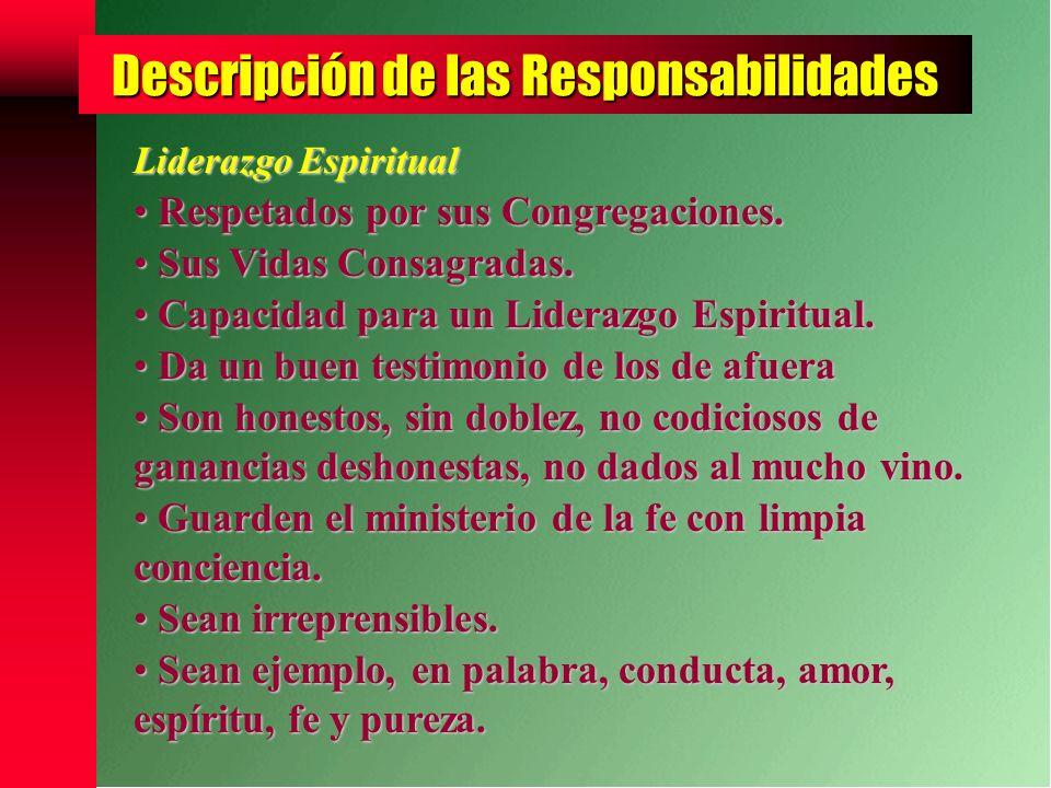 Descripción de las Responsabilidades