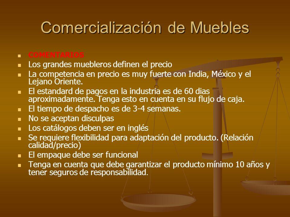 Comercialización de Muebles